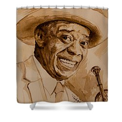 Shower Curtain featuring the painting What A Wonderful World by Laur Iduc