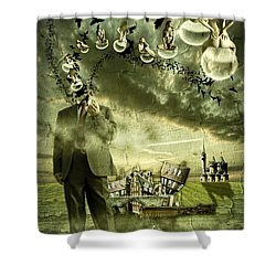 What Are You Thinking Shower Curtain by Nathan Wright