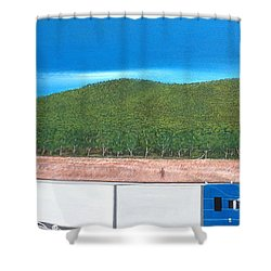 What Happened To My Homeland Shower Curtain by Tim Mullaney