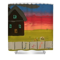 What Home Means To Me Shower Curtain