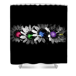 Colored Blind Shower Curtain by Janice Westerberg