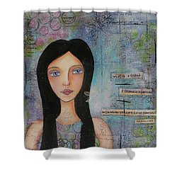 Shower Curtain featuring the painting What Is A Friend # 2 by Nicole Nadeau