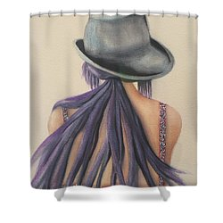 What Lies Ahead Series After The Loss Of My Husband  Shower Curtain by Chrisann Ellis