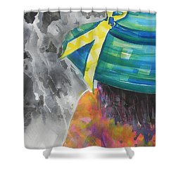 What Lies Ahead Series....chaos  Shower Curtain by Chrisann Ellis