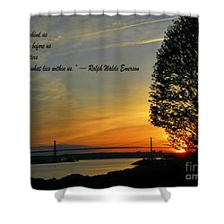 What Lies Within Shower Curtain by Crystal Loppie
