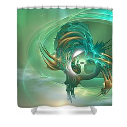 What The .... Shower Curtain by Phil Sadler