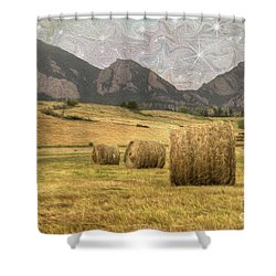 What The Hay Shower Curtain by Juli Scalzi