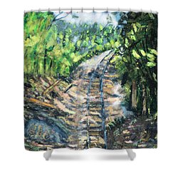 What's Around The Bend? Shower Curtain