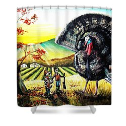 Whats For Dinner? Shower Curtain by Shana Rowe Jackson