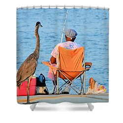 Shower Curtain featuring the photograph What's For Lunch by Charlotte Schafer