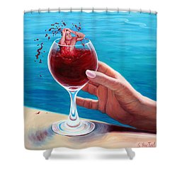 What's In Your Goblet? Shower Curtain by Sandi Whetzel