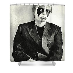 Whats The Point In Miming Shower Curtain by John Malone