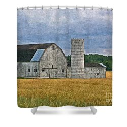 Wheat Field Barn Shower Curtain
