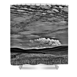 Wheat Fields In The Palouse Shower Curtain by David Patterson