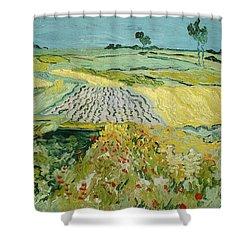 Wheatfields Near Auvers-sur-oise Shower Curtain by Vincent van Gogh
