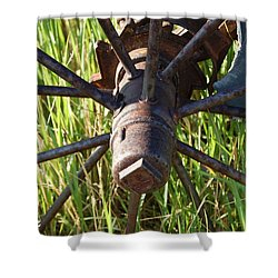 Shower Curtain featuring the photograph Wheel by Mim White
