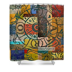 Wheel Of Fortune Shower Curtain by Corporate Art Task Force