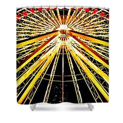 Wheel Of Light Shower Curtain by Benjamin Yeager