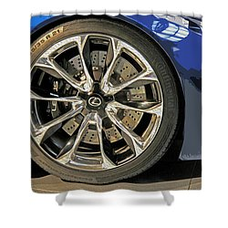 Wheel Of The Future Shower Curtain by Tom Gari Gallery-Three-Photography
