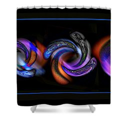 Wheels In Motion Shower Curtain