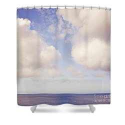 When Clouds Meet The Sea Shower Curtain
