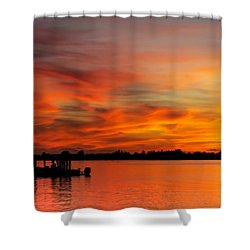 When God Paints Shower Curtain by Karen Wiles
