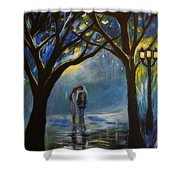When I Fall In Love Shower Curtain by Leslie Allen