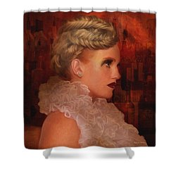 When In Paris Visit The Moulin Rouge Shower Curtain by Angela A Stanton