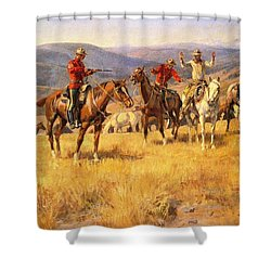 When Law Dulls The Edge Of Chance Shower Curtain by Charles Russell