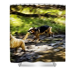 When Life Gives You A Mud Puddle . . . Shower Curtain by Belinda Greb