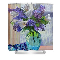 When Lilacs Bloomed Shower Curtain