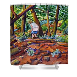 When Nature Calls Shower Curtain