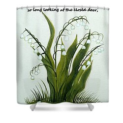 When One Door Closes Shower Curtain by Barbara Griffin