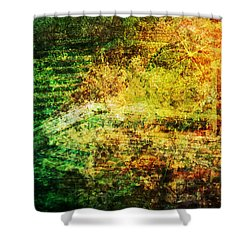 Shower Curtain featuring the mixed media When Past And Present Intersect #1 by Sandy MacGowan