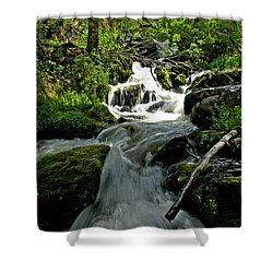 When Snow Melts Shower Curtain by Jeremy Rhoades