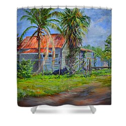 When The Cow Came Home Shower Curtain by AnnaJo Vahle