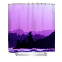 Shower Curtain featuring the photograph When The Deep Purple Falls by Chris Anderson