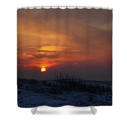 Shower Curtain featuring the photograph When The Sun Goes Down  by Annie Snel