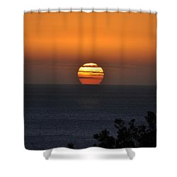 When The Sun Sets Shower Curtain by Sabine Edrissi