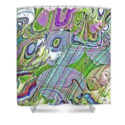 Shower Curtain featuring the digital art When Worlds Collide by Richard Thomas