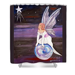 Shower Curtain featuring the painting When You Dream by Phyllis Kaltenbach