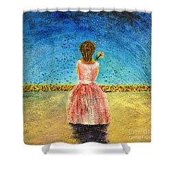 Where Angels Sleep Shower Curtain by Therese Alcorn