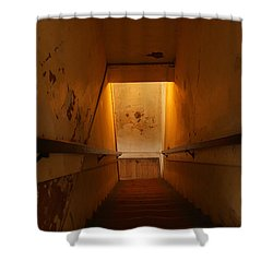Where Billy The Kid Shot Bell Shower Curtain by Jeff Swan