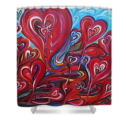 Where Broken Hearts Go Shower Curtain