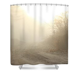 Where Does The Road Lead Shower Curtain by Karol Livote