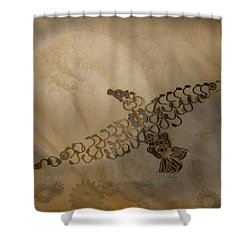 Where Eagles Soar-mechanical Eagle Shower Curtain by Fran Riley