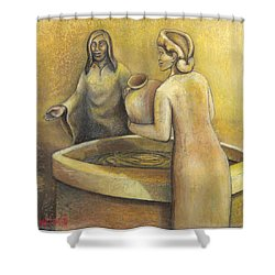 'where Grace Finds You' Shower Curtain