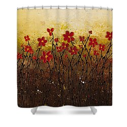 Where Happiness Grows Shower Curtain by Carmen Guedez