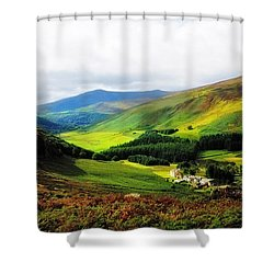 Where Is Soul Flying. Wicklow Mountains. Ireland Shower Curtain by Jenny Rainbow