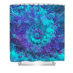 Where Mermaids Play Shower Curtain